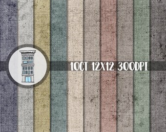 Distressed textures Old Book Cover Digital Scrapboooking Paper Pack INSTANT DIGITAL DOWNLOAD Dark Neutral Assorted colors Vintage background
