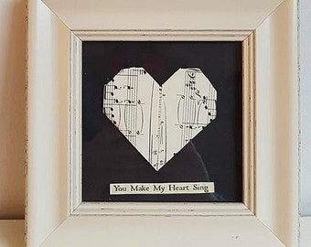 1st Wedding Anniversary Gift,First Anniversary,Paper Anniversary,heart picture,romantic gift,heart shaped gift,heart frame,love heart gift