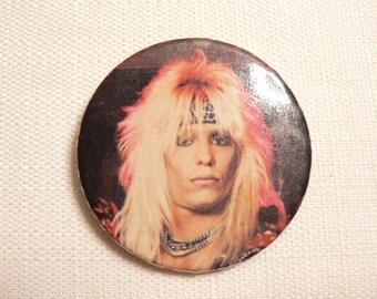 BIG Vintage 80s Vince Neil - Motley Crue - Shout at the Devil - Pin / Button / Badge