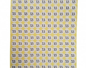 XS Adhesive Sticker Clothes Label 1 SHEET of 132 Stickers 100708