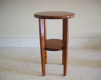 Wooden indoor plant stand or small end table