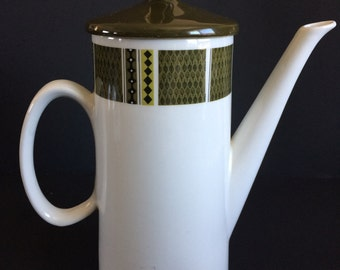 Vintage Coffee Pot and Lid by Swinnertons of Staffordshire, Made in England