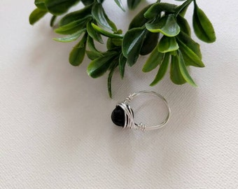 Sterling Silver Lava Rock ring, essential oil rings, diffuser ring, essential oil diffuser ring