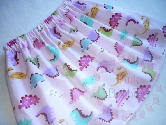 Dinosaur skirt pink dino skirt girly dinosaurs toddler for Girly dinosaur fabric