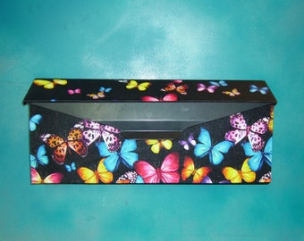 Colorful Butterflies Wall mounted Mailbox Cover