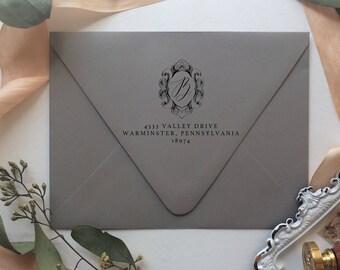 Crest Return Address Stamp