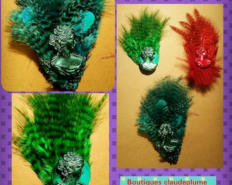3-pin feather jewelry