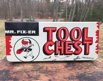 Mr. Fix it tool chest, Vintage Toys, Vintage Tool Box