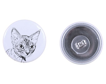 Earrings with a cat -Devon rex