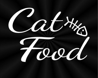 Cat Food Decals, Feline, Container, Canister, Jars, Vinyl Decals, Stickers 10818