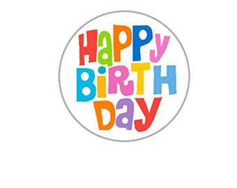 "Happy Birthday Envelope Seals - 1.2"" Happy Birthday Stickers -96 Stickers - 25107"