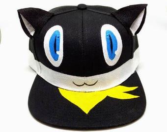 Morgana Persona 5 Cat Phantom Thieves Steal Your Heart Cosplay Costume Snapback Hat Cat Bus Shin Megami Tensei Go To Sleep Anime Fashion