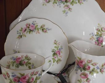 Royal Albert moss vale cake plate, jug and trio great gift idea or collection