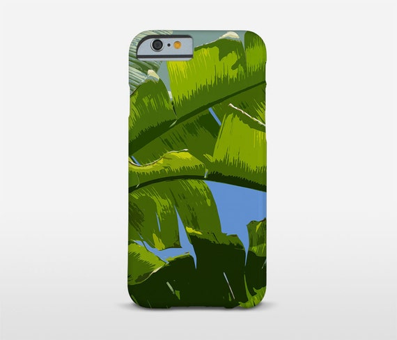 Leaf Phone Cover, Banana Leaf Art, Cell Phone Case, iPhone 7 Case, Galaxy Cases, HTC, Moto G3, Xiaomi RedMi