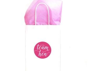 Hen Party Gift Bag - White & Pink Gift Bag - Hen Night Goody Bag - Hen Do Gift Bag - Paper Gift Bag