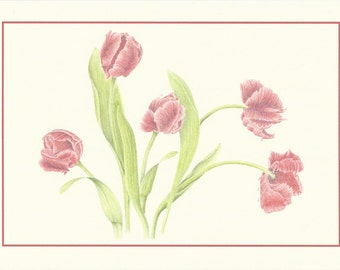 Set of 4 Tulip Waltz Cards