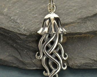Sterling Silver Jellyfish Charm