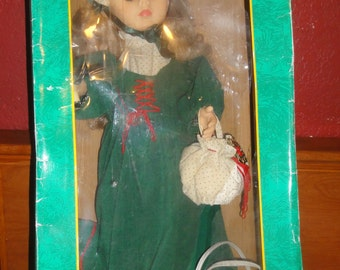 Vintage 1992 Trim A Home Animated Holiday Figurine Doll