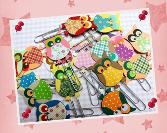 "50 x paper clip - bookmark ""OWL"""