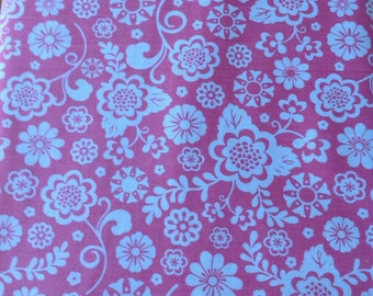 Fancy Free by Lori Whitlock for Riley Blake, Pink Fabric with White Flowers, Fabric by the Yard