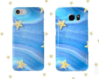 Ocean Blues and Starfish Phone Case iPhone, Samsung - Phone Cover, Summer,