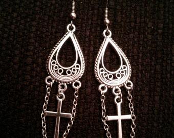 Anchor octopus earrings