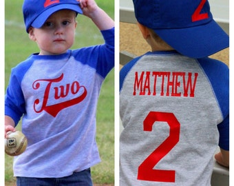 Baseball birthday shirt, 2nd birthday shirt, boys birthday shirt,  baseball t-shirt, baseball birthday party, baseball party, baseball shirt