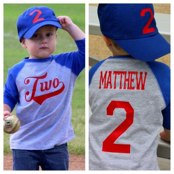 Baseball Birthday Shirt 2nd Birthday Shirt Boys Birthday