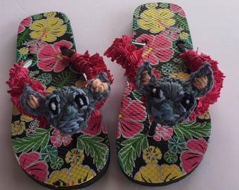 Stitch inspired flip flops