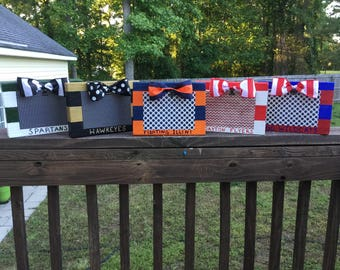 Whimsical Collegiate Block Picture Frames Any Team