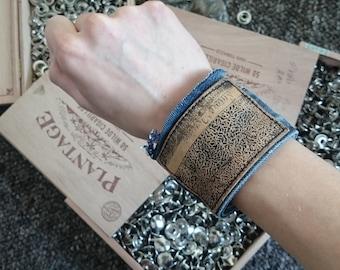 Jeans cuff | bracelet, reclaimed, jewelry, denim