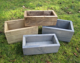 Centerpiece box, rustic centerpiece, wood planter box, herb box, farmhouse decor, flower centerpiece box, wood box, rustic box, wooden box