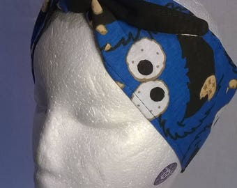 Cookie Monster headband, 88 x 8 cm, handmade, Sesame Street