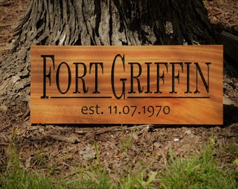 Outdoor Lake House Sign, Custom Carved Wood Sign, Solid Hardwood Outdoor Sign, Personalized Wood Sign, Custom Wood Sign Carved Wood Sign