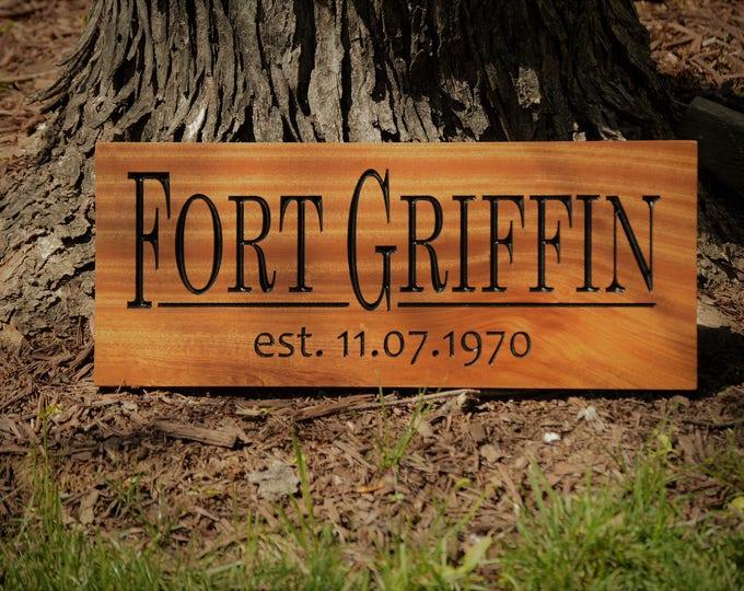 Custom Outdoor Lake House Sign, Custom Carved Wood Sign, Hardwood Outdoor Sign, Personalized Wood Sign Custom Wood Sign Carved Wood Sign