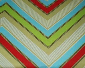 FABRIC 5 Yards- Free Spirit Fabric Heather Bailey Pop Garden Zag Stripe Red