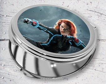Scarlett Johansson the Black Widow Round Personalized Sublimation Compact Mirror JB03