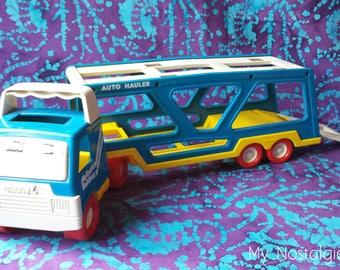 80's Toys ~ Buddy L Truck ~ My First Buddy ~ Auto Hauler ~ Tractor Trailer ~ Semi Truck ~ 1987 ~ Toddler ~ Plastic ~ My Nostalgic Life