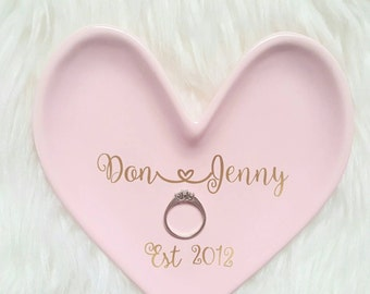 Heart ring dish/heart ring holder/personalized ring dish/wedding gifts personalized/marriage gifts/ring dish wedding/ring dish holder/