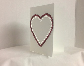Valentine Day Card , blank , Free confetti , Spouse , Hearts , Red , Rhinestones