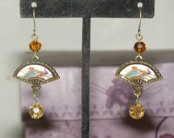 Oriental Fan Earrings