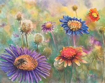 Meadow Flowers, Original painting