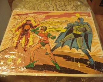 1966 Western Printing DC Comics Batman and Robin Board Tray Puzzle