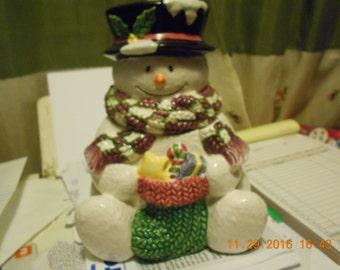 Snowman Candy & Treat Jar