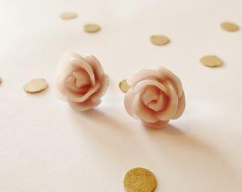 Light Lavender Rose Stud Earrings, Gift for Her, Gift Under Ten, Bridesmaid, Posts Earrings