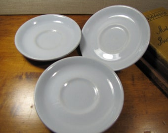Buffalo China - Lune - Pale Blue Saucers - Restaurant Ware - Set of Three (3)