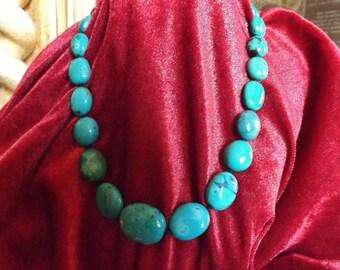 Tibetan ethnic necklace. Tibetan turquoise, vintage turquoise necklace Tibet, Nepal