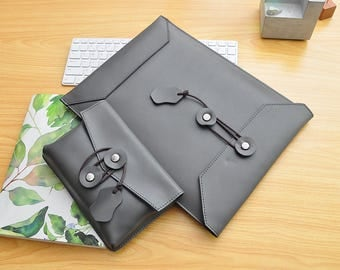 "New Dell XPS Leather Sleeve Dell XPS 13"" Case Leather New Dell XPS 15"" Cover Leather Lenovo Laptop Sleeve Surface Book Leather Bag-079"