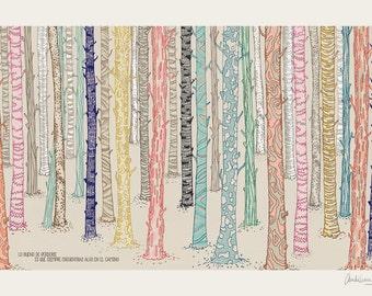 illustration forest A4