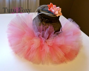 Pink, Peach, Coral Tutu Skirt, Tutu Skirt, Tutu, Tutu with Headband, Tutu Set, Birthday Tutu, 1st Birthday Tutu, Baby Tutu, Newborn Tutu,